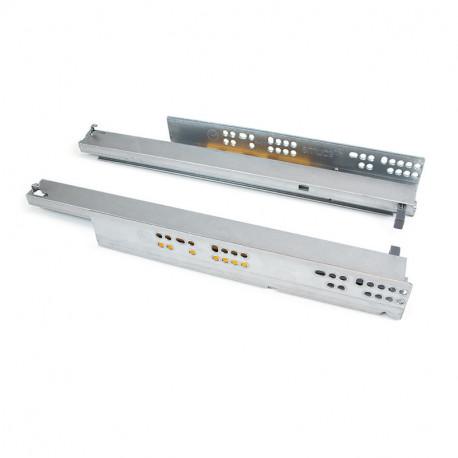 Guide a scomparsa Silver per cassetti ad estrazione totale con sistema push
