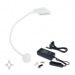 Applique quadrato Kuma con braccio flessibile e 2 porte USB, e convertitore di tensione costante