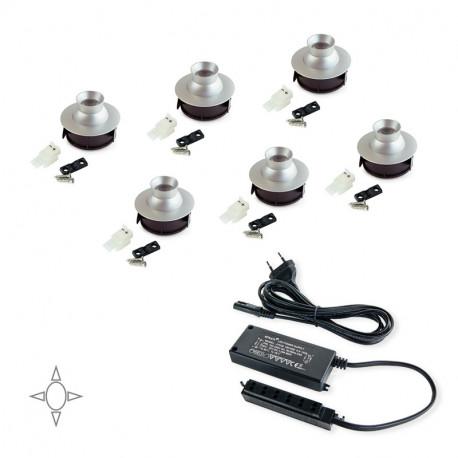 Luminarie LED orientabili Polaris con convertitore da 15 W