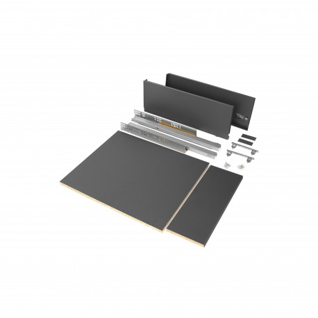 Kit de tiroir pour cuisine et salle de bain Vertex de hauteur 178 mm avec panneaux incluses.