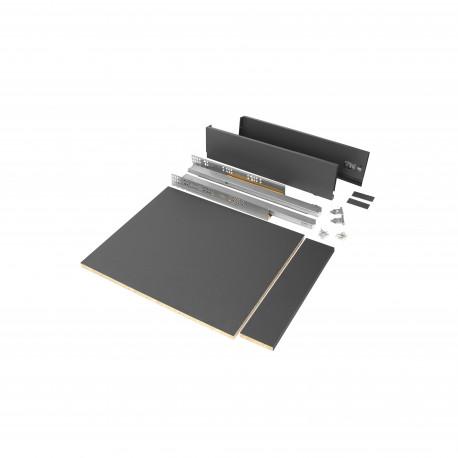 Kit de tiroir pour cuisine et salle de bain Vertex de hauteur 93 mm avec panneaux incluses.