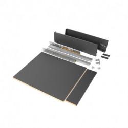 Kit cassetto per cucina o bagno Vertex di altezza 93 mm con pannelli inclusi.