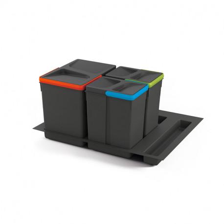 Set di contenitori con base Recycle per cassetti da cucina