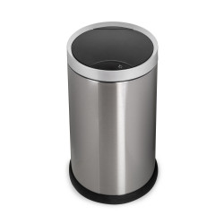Pattumiera rotonda con coperchio Recycle con apertura mediante sensore di movimento