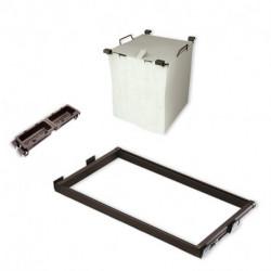 Kit di guide, cesto per biancheria e vaschette ausiliari Moka per modulo 600 mm