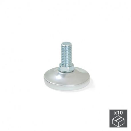 Piedini regolabili con base circolare M10, D. 43 mm