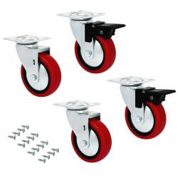 Kit di ruote Slip 2 con piastra per montaggio