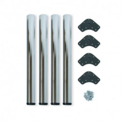 Gambe per tavola D. 60 mm di acciaio