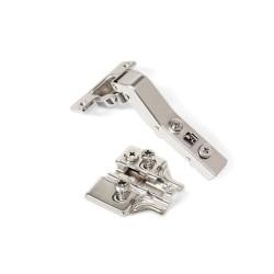 Emuca Bisagra de cazoleta X91, cierre suave, brazo angular 45º, suplemento Euro