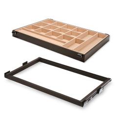 Emuca Schmuckschubladen-Kit für Schränke Moka