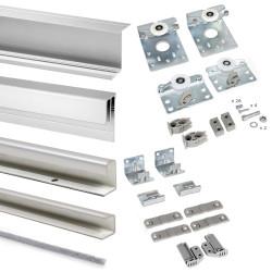 Emuca Schiebetürensystem für Schrank mit 2 aufgehängten Schiebetüren Neco mit Profilen Styl
