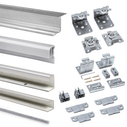 Emuca Schiebetürensystem für Schrank mit 2 aufgehängten Schiebetüren Supereco mit Profilen Styl