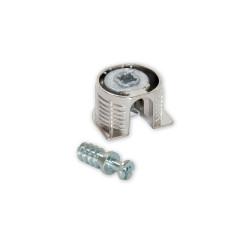 Emuca Kit cazoleta de unión Fix D. 20 x 12,5 mm y pernos D. 6 mm