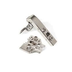 Emuca Bisagra de cazoleta X91, cierre suave, brazo angular 90º, suplemento Euro