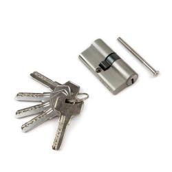 Emuca Cilindro cerradura para puertas, tipo pera de 30 x 30 mm.