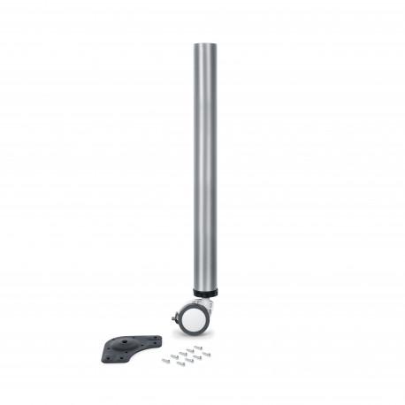 Tischbein verstellbar mit Rolle und Bremse D. 60 mm