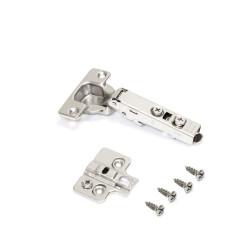 Bisagra de cazoleta X71, cierre suave, apertura 105º, suplemento para atornillar