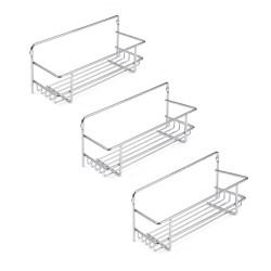 Emuca Set mit 3 Supra Gewürzregalen für Küchenmöbel.