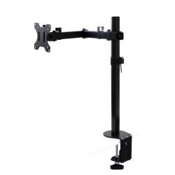 Soportes de monitor para mesa inclinables y giratorios 360°.