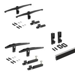 Kit Zero di supporti per mensole in legno, modulo e barra appendiabiti