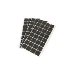 Emuca Patins en feutre adhésifs carrés pour meubles