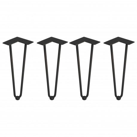 Juego de patas Hairpin de 2 varillas para mesa