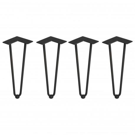 Tischbeinset Hairpin mit 2 Stäben