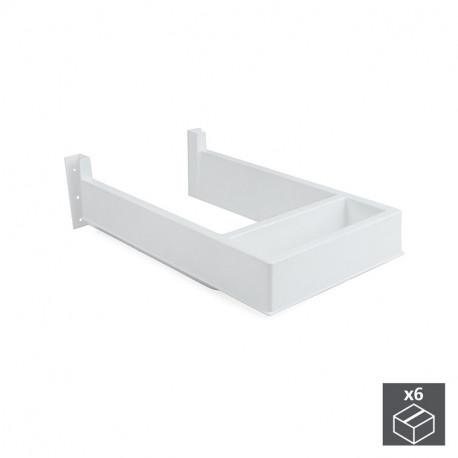 Salva sifone rettangolare per casseti del bagno