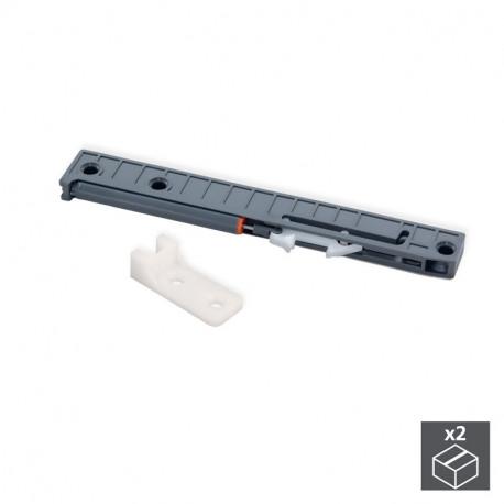 Meccanismo di chiusura soft per cassetti con guide a rotelle T30